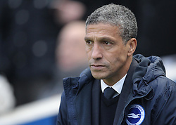 Brighton and Hove Albion Manager, Chris Hughton - Mandatory byline: Paul Terry/JMP - 07966 386802 - 01/01/2016 - FOOTBALL - Falmer Stadium - Brighton, England - Brighton v Wolves - Sky Bet Championship