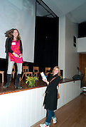 KATIE WALDEGRAVE; BELLA POLLEN, First Story annual celebration event, Holland Park School, London. 15 November 2010. -DO NOT ARCHIVE-© Copyright Photograph by Dafydd Jones. 248 Clapham Rd. London SW9 0PZ. Tel 0207 820 0771. www.dafjones.com.