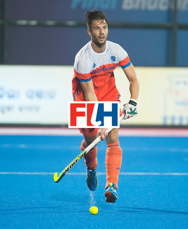 BHUBANESWAR - Martijn Havenga (Ned) tijdens de Hockey World League Finals , de kwartfinale wedstrijd Duitsland-Nederland (3-3).Duitsland wint na shoot-outs.    COPYRIGHT KOEN SUYK