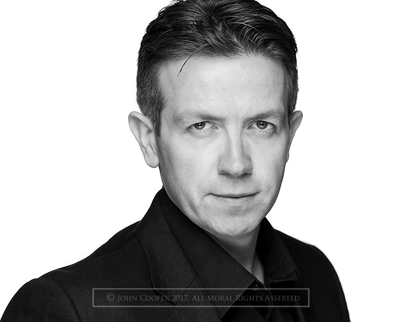 Headshot of actor Mark Cox. BBC Scotland 'Chewin' The Fat' and 'Still Game'