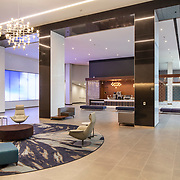 LPA Architects have updated the original Ware Malcomb lobby design of 701 B Street in San Diego, California for the EMMES Group