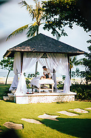 The spa overlooking the sea at the Holiday Inn Resort Baruna in Bali, Indonesia.