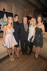 Left to right, DAYA FERNANDEZ, GIANNINA FACIO, RIDLEY SCOTT, SIENNA MILLER and INGE THERON at a party to celebrate the launch of Hollywood Domino - a brand new board game, held at Mosimann's 11b West Halkin Street, London on 7th November 2008.  The evening was in aid of Charlize Theron's Africa Outreach Project.