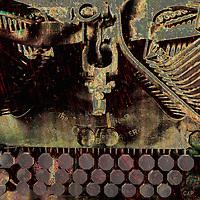 Old typewriter digital photo art