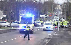 Two main roads were closed in North Motherwell as Police reacted to calls of someone being stuck by a vehicle. The Scottish Air Ambulance was also in attendance. Angie Isac | EEm Tuesday 12 February 2019