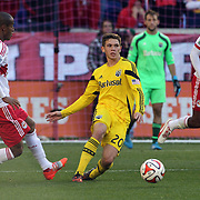 Wil Trapp, Columbus Crew, in action during the New York Red Bulls Vs Columbus Crew, Major League Soccer regular season match at Red Bull Arena, Harrison, New Jersey. USA. 19th October 2014. Photo Tim Clayton