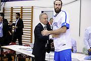 DESCRIZIONE : Qualificazioni EuroBasket 2015 Svizzera-Italia <br /> GIOCATORE : Luigi Datome Gianni Petrucci <br /> CATEGORIA : nazionale maschile senior A GARA : Qualificazioni EuroBasket 2015 Svizzera-Italia <br /> DATA : 27/08/2014 <br /> AUTORE : Agenzia Ciamillo-Castoria