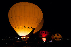 """The Glow Show 3"" - Photograph of glowing hot air balloons during the Glow Show at the 2012 Great Reno Balloon Race."