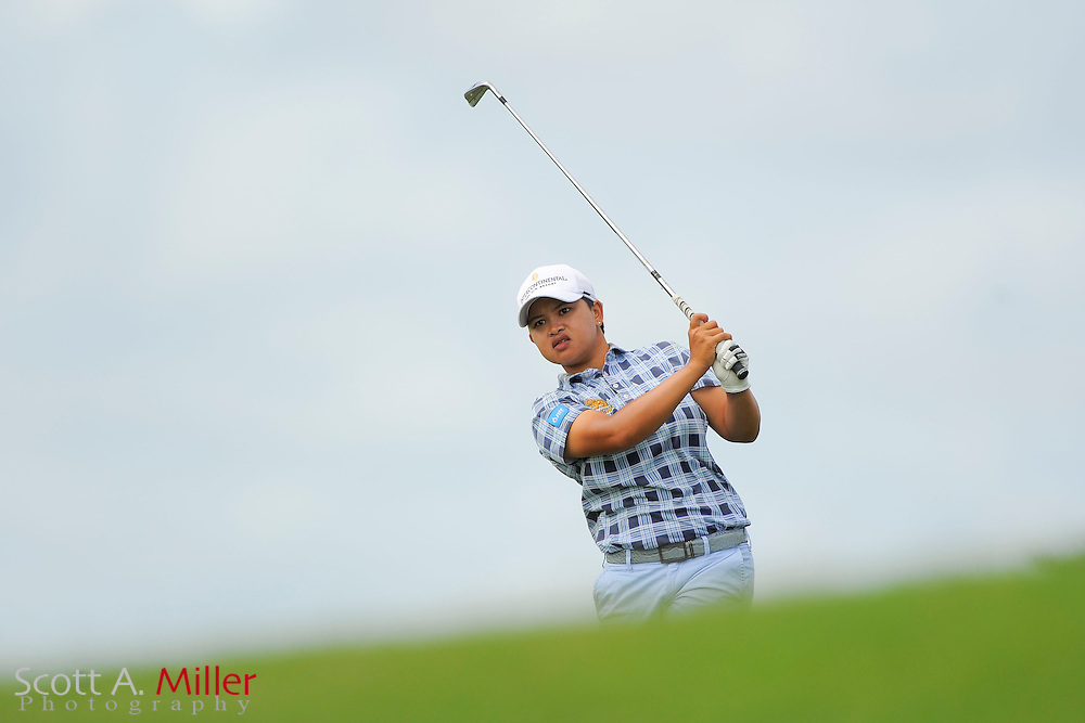 P.K. Kongkraphan during the final round of the Symetra Tour Championship at LPGA International on Sept. 29, 2013 in Daytona Beach, Florida. <br /> <br /> <br /> &copy;2013 Scott A. Miller