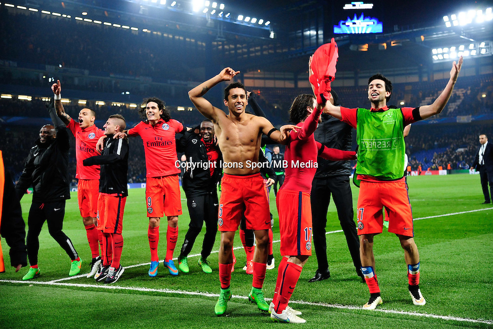 Joie PSG - MARQUINHOS - 11.03.2015 - Chelsea / Paris Saint Germain - 1/8Finale retour Champions League<br /> Photo : Dave Winter / Icon Sport