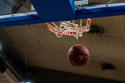 A score during basketball match between Basketball - KK Petrol Olimpija Ljubljana and KK Sixt Primorska in Round #7 of Liga Nova KBM za prvaka 2018/19, on April 11th, 2019 in Hala Tivoli, Slovenia Photo by Matic Ritonja / Sportida