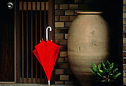 Image of an umbrella in a doorway in Ise-Shima, Japan
