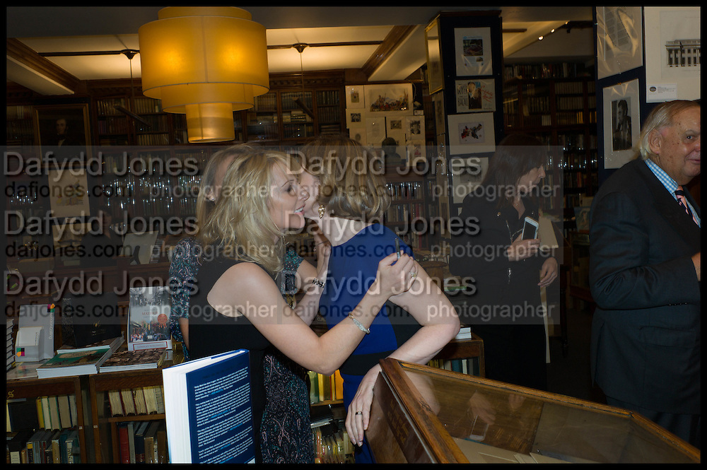 VICKY WARD; FRANCES OSBORNE Book party for 'The Liar's Ball' by Vicky Ward hosted by  Sir Evelyn  de Rothschild at Henry Sotheran's, 2 Sackville Street London. 25 November 2014