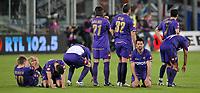 """Fiorentina players defeated at the end of the match<br /> Jorgensen, Gamberini, Mutu, Ujfalusi, Vieri, Gobbi, Semioli, Liverani delusione alla fine della partita<br /> Firenze 1/5/2008 Stadio """"Artemio Franchi"""" <br /> Uefa Cup 2007/2008 Semifinals - Semifinale second Leg<br /> Fiorentina Rangers Glasgow (0-0) (2-4 a.p.)<br /> Foto Andrea Staccioli Insidefoto"""
