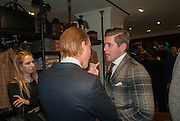 FREDDIE FOX;  ALLEN LEACH, Opening of new Hackett flagship store. Regent St. London. 28 November 2013.