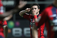 FOOTBALL - FRENCH CHAMPIONSHIP 2011/2012 - CLERMONT FOOT v CS SEDAN  - 4/05/2015 - PHOTO EDDY LEMAISTRE / DPPI - JOY OF ROMAIN ALESSANDRINI (CFA) AFTER HIS PENALTY