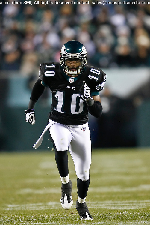 27 Nov 2008: Philadelphia Eagles wide receiver DeSean Jackson #10 during the game against the Arizona Cardinals on November 27th, 2008. The Eagles won 48 to 20 at Lincoln Financial Field in Philadelphia, Pennsylvania.