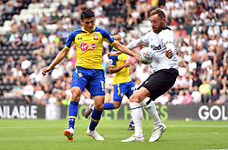 Southampton's Mohamed Elyounoussi in action during a pre season friendly match at Pride Park, Derby.