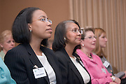 18217Ohio Women Making a Difference Conference: Sponsored by The Ohio University Foundation's Women in Philanthropy initiative...Dawn Jenkins and Marlene Jenkins watch