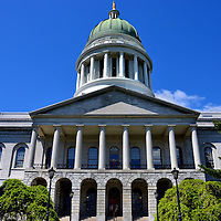 Maine State House Building in Augusta, Maine<br />