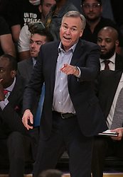 October 20, 2018 - Los Angeles, California, U.S - Coach, Mike D Antoni of the Houston Rockets does not agree with a call during their NBA game with the Los Angeles Lakers on Saturday October 20, 2018 at the Staples Center in Los Angeles, California. (Credit Image: © Prensa Internacional via ZUMA Wire)