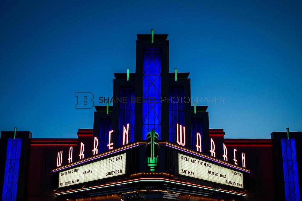 8/10/15 8:32:06 PM --  Exterior photos of the Warren Theatre in Broken Arrow, Oklahoma. <br /> <br /> Photo by Shane Bevel