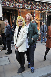 Left to right, PAM HOGG and MARGOT HENDERSON at the Mother of Pearl Launch at The Other Criteria, 36 New Bond Street, London W1 on 12th April 2011.