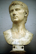 Augustus Caesar - Gaius Julius Caesar Octavianus (63 BC-14 AD), first Roman Emperor from 27 BC. Marble bust of Augustus as a young man