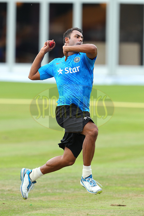 Stuart Binny of India during the Indian practice session held at Lords prior to the 2nd Investec test match between England and India held at Lords cricket ground in London, England on the 16th July 2014<br /> <br /> Photo by Ron Gaunt / SPORTZPICS/ BCCI