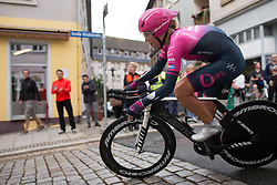 Olga Zabelinskaya (RUS) of BePink Cycling Team clears the final corner of the prologue of the Lotto Thuringen Ladies Tour - a 6.1 km individual time trial, starting and finishing in Gera on July 12, 2017, in Thuringen, Germany. (Photo by Balint Hamvas/Velofocus.com)