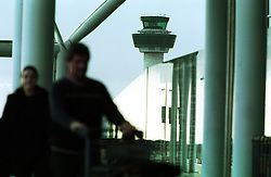 THE CONTROL TOWER AT STANSTED AIRPORT, February 8, 2000. Photo by Andrew Parsons / i-images..