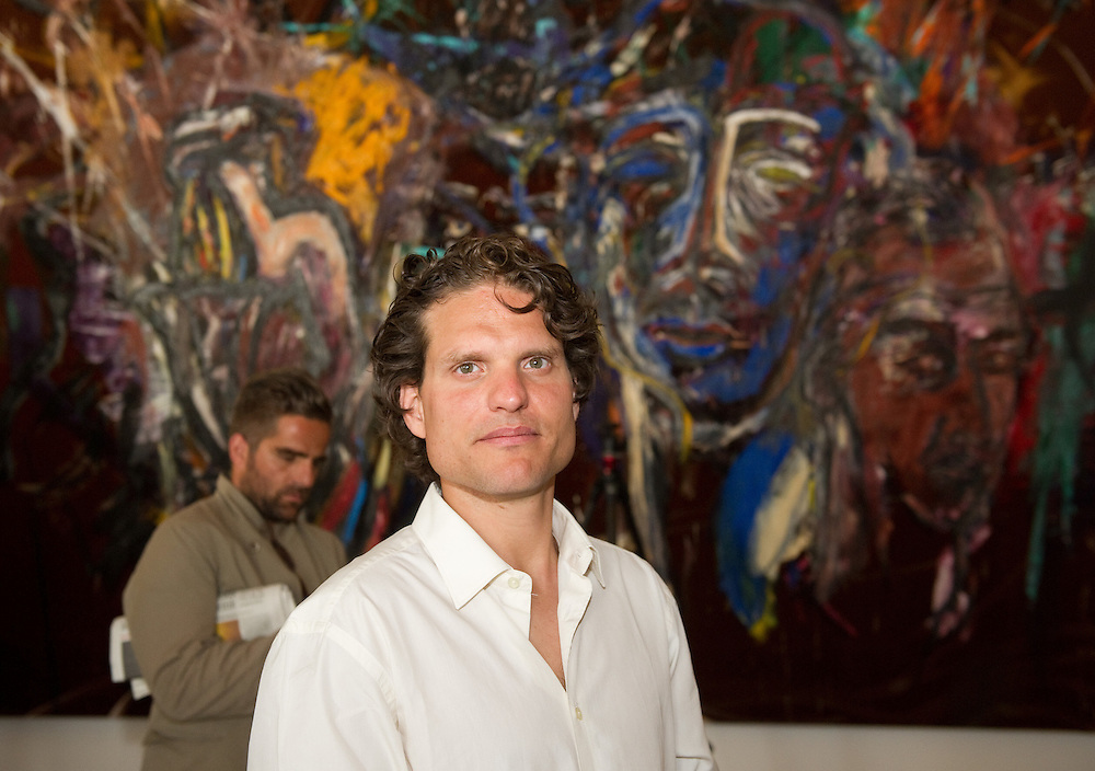 """Artist Vahakn Arslanian at the pess preview of Julian Schnabel - """"Permanently Becoming And The Architecture Of Seeing"""" part of 54th International Art Biennale in Venice"""