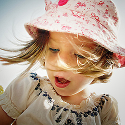 Young girl experiencing wonderment.