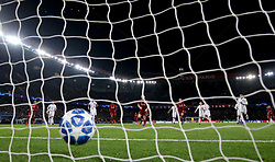 Liverpool's James Milner scores his side's first goal of the game from the penalty spot