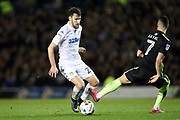 Leeds United midfielder Alfonso Pedraza (29) takes on Brighton & Hove Albion central midfielder Beram Kayal (7) during the EFL Sky Bet Championship match between Leeds United and Brighton and Hove Albion at Elland Road, Leeds, England on 18 March 2017.