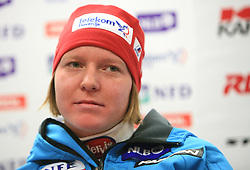 Marusa Ferk at press conference of Women Slovenian alpine team before the World Championship in Val d'Isere, France, on January 26, 2009, in Ljubljana, Slovenia. (Photo by Vid Ponikvar / Sportida).