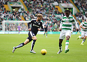 Dundee's Rory Loy takes on Celtic's Efe Ambrose  - Celtic v Dundee - Ladbrokes Premiership at Celtic Park<br /> <br /> <br />  - © David Young - www.davidyoungphoto.co.uk - email: davidyoungphoto@gmail.com