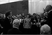 24/10/1971<br /> 10/24/1971<br /> 24 October 1971<br /> Opening of ROSC 1971 art exhibition at the RDS, Ballsbridge, Dublin. Picture shows Dr T.J. O'Driscoll speaking to one of the National College of Art Students who was protesting during the opening.