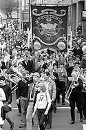 Fryston banner, 1983 Yorkshire Miner's Gala. Barnsley