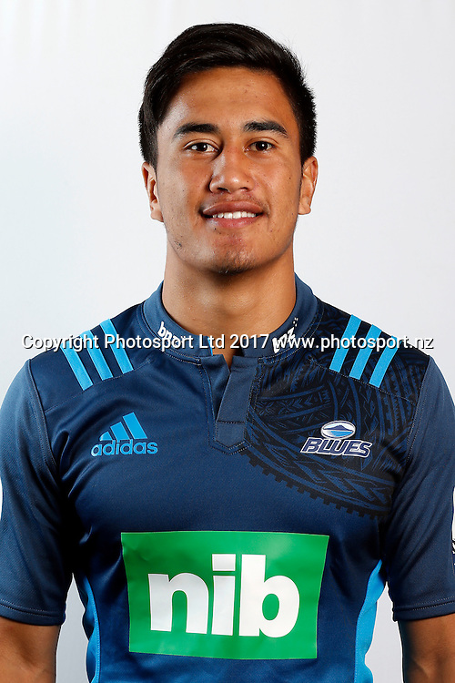 Tamati Tua, Blues team headshots for the 2017 Super Rugby season. Blues HQ, Auckland, New Zealand. 25 January 2017. Copyright Image: William Booth / www.photosport.nz