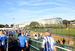 Brighton Fans arrive st the American Express Community Stadium ahead of the match - Mandatory byline: Paul Terry/JMP - 07966386802 - 07/08/2015 - FOOTBALL - Falmer Stadium -Brighton,England - Brighton v Nottingham Forest - Sky Bet Championship