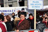 Roma 3 Dicembre 2009.Manifestazione contro il taglio al fondo dei disabili del Governo Berlusconi.