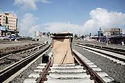 Baracca costruita lungo il cantiere della nuova metro, Addis Ababa 13 settembre 2014.  Christian Mantuano / OneShot <br /> <br /> A Shack built on the construction site of the new metro line, Addis Ababa September 13, 2014.