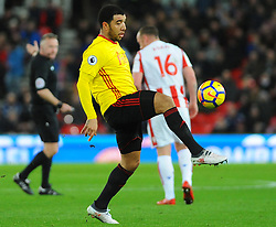 Troy Deeney of Watford controls the ball  - Mandatory by-line: Nizaam Jones/JMP - 31/01/2018 - FOOTBALL - Bet365 Stadium - Stoke-on-Trent, England - Stoke City v Watford - Premier League