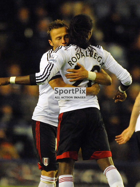 Fulham Celebrate Hugo Rodallega Goal at Leicester, Leicester City v Fulham, Capital One Cup, 29th October 2013