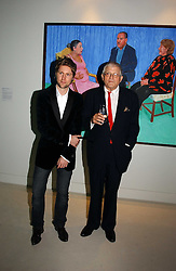 Left to right, CHRISTOPHER BAILEY and DAVID HOCKNEY at an exhibition of David Hockney portraits at the National Portrait Gallery sponsored by Burberry on 11th October 2006.<br /><br />NON EXCLUSIVE - WORLD RIGHTS