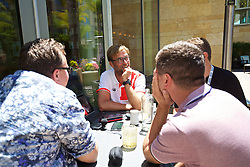 PALO ALTO, USA - Saturday, July 30, 2016: Liverpool manager Jürgen Klopp speaks to the Anfield Wrap at the Four Seasons Hotel on day ten of the club's USA Pre-season Tour. (Pic by David Rawcliffe/Propaganda)