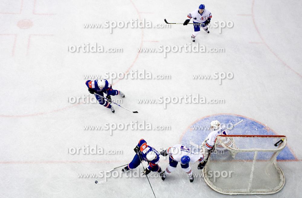 MUSIC Ales of Slovenia vs Ben O'Connor of Great Britain at IIHF Ice-hockey World Championships Division I Group B match between National teams of Slovenia and Great Britain, on April 20, 2010, in Tivoli hall, Ljubljana, Slovenia.  (Photo by Vid Ponikvar / Sportida)