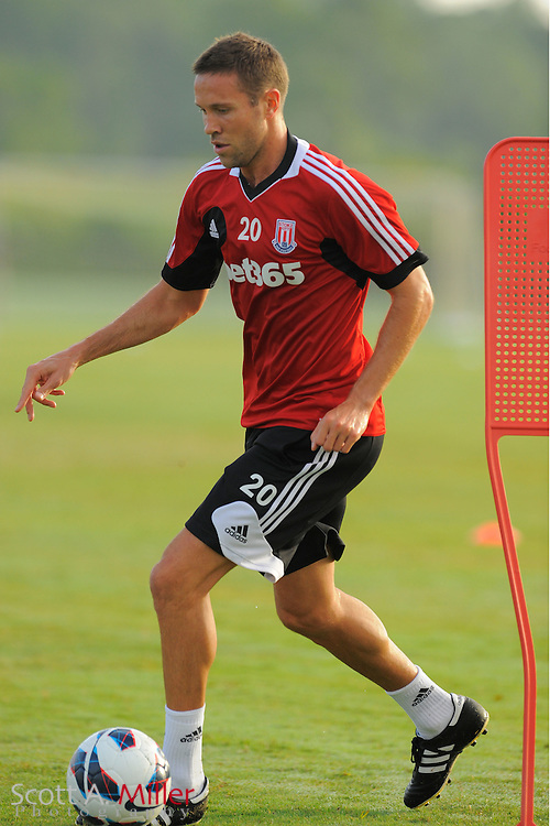 Stoke City Potters defender Matthew Upson (20) during a training session at the Seminole Soccer Complex on July 27, 2012 in Sanford, Florida. ..©2012 Scott A. Miller..