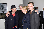 ROBERT DOWNEY JNR; GUY RITCHIE; SAM TAYLOR WOOD, JUDE LAW. Yes 1 No. Sam Taylor Wood. White Cube. Mason's Yard. London. 23 October 2008 *** Local Caption *** -DO NOT ARCHIVE -Copyright Photograph by Dafydd Jones. 248 Clapham Rd. London SW9 0PZ. Tel 0207 820 0771. www.dafjones.com